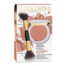 COLLISTAR SILK-EFFECT MAXI-BLUSHER 11g + SPECIAL DOUBLE BRUSH FOR BRONZERS & BLUSHES