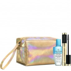 COLLISTAR VOLUME UNICO MASCARA INTENSE BLACK +TWO-PHASE REMOVER 50ML+ REFLECTING POUCH (GOLD)