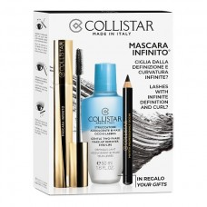 COLLISTAR MASCARA INFINITO EXTRA BLACK+TWO-PHASE REMOVER 50ML+PROFESSIONAL EYE PENCIL
