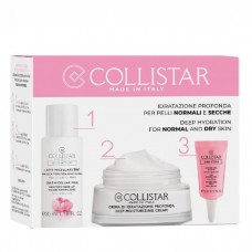COLLISTAR DEEP MOISTURIZING CREAM 30 ml +3 in1 MICELLAR MILK 35 ml + EYE HYDRO-GEL 5 ml