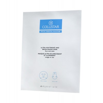 COLLISTAR ULTRA-WHITENING AND BRIGHTENING MASK face and neck 4*15 ml