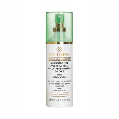 COLLISTAR MULTI-ACTIVE DEODORANT HYPERSENSITIVE SKINS SPRAY W/ ALOE MILK 100 ml