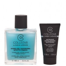 COLLISTAR HYDRO-GEL A-SHAVE FRESH EFFECT + DAILY REVITALIZING ANTI-WRINKLE CREAM 100ml + 30ml