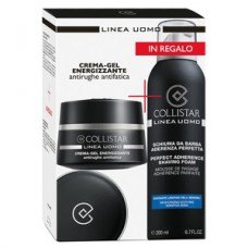 COLLISTAR MEN KIT CREMA-GEL ENERGIZZANTE 50ML+SCHIUMA da BARBA 200ml