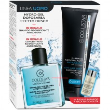 COLLISTAR KIT HYDRO-GEL DOPOBARBA EFFETTO FRESCO 100ml + SHAMPOO ANTICADUTA 100ml + CONCENTRATO ANTICADUTA 6ml