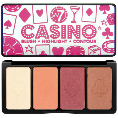 "W7 FACE PALETTE ""CASINO"" BLUSH - HIGHLIGHT- CONTOUR 16g"