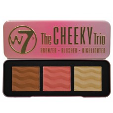 W7 ''THE CHEEKY TRIO'' BRONZER - BLUSHER - HIGHLIGHTER 21g