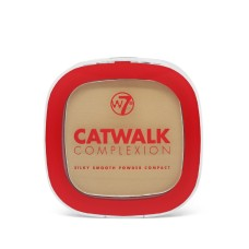 W7 CATWALK COMPLEXION SILKY SMOOTH POWDER COMPACT 7g